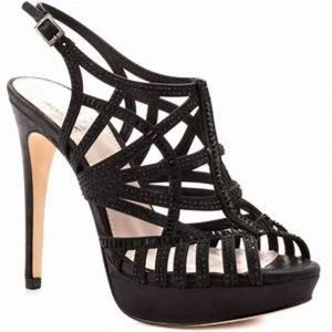 Vince Camuto Shoes - Vince Camuto Black Janene Sparkly Heels Sz 9